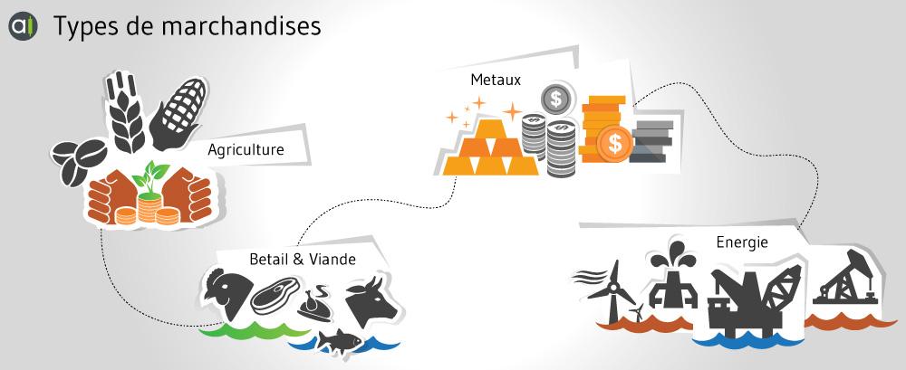 quatre catégories de matières premières